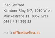 Adressdaten SEFINA